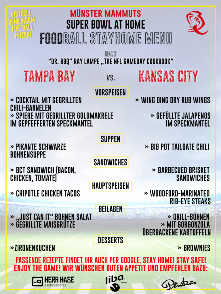"""Rezeptempfehlung nach Ray Lampe's """"NFL Gameday Cookook"""""""